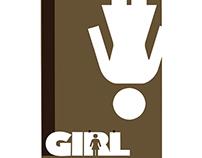 Hang Girl skateboard deck