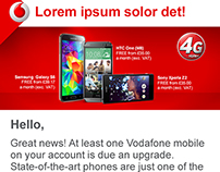 Vodafone eCRM emailers