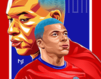 Kylian Mbappé - Vector artwork