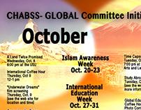 Global Studies Calendar of Events Poster