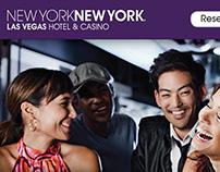 Email Design for NY-NY Las Vegas