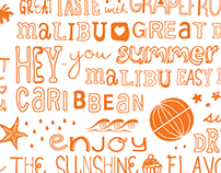 'Malibu' Rum Packaging - Limited summer edition 2014
