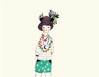 Garland girl
