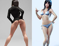 25 Glamorous 3D Character Designs and Hot 3D Models