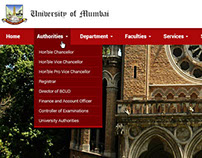 Web Layout Design for Mumbai University