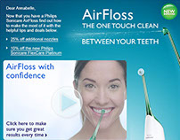 Philips Airfloss flash banners and emailer campaign