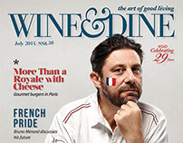 Wine & Dine Cover/ July Issue