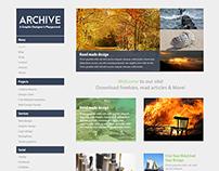 Archive Photoshop Website Mockup