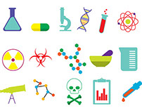 Free Vector Science Icons (Ai)