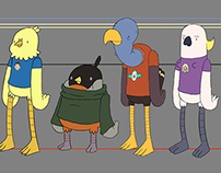 City Chickens Character Designs