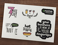 Gnome by Groupon Swag Stickers