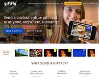 GiftFly Homepage Design