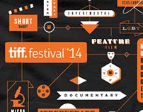 TIFF Toronto International Film Festival TShirt Design