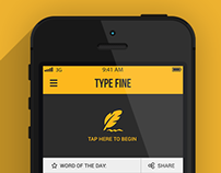 Type Fine - app design