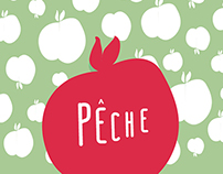 """Peche"" Fruit Branding"