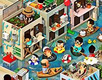 Bangkok swimming pool '54