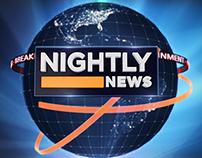 Reuters Nightly News broadcast design