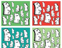 Easter Island Print Shorts