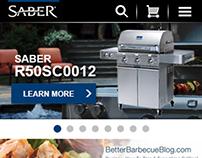 Saber Grills Responsive Site