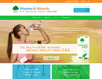 Website Design for G&G Vitamins