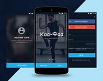 Kaa-Yaa Fitness Android App - UI/UX Design