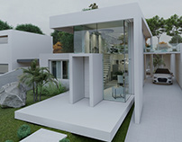 Exterior House Rendered