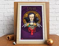 Ilustración Edgar Allan Poe