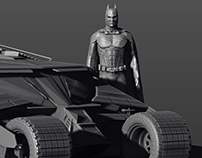 Batman & vehicles. Modelling