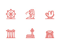 Free Singapore Sketch Icons Pack
