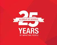AJ Group of Schools - 25 Years Branding