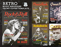 Retro Music Magazine Front Cover Template