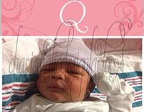 Bookmark Monogram Birth Announcements