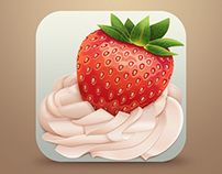strawberries, icon