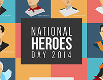 Philippine National Heroes Day Graphic Illustration