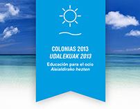 COLONIAS / UDALEKUAK 2013