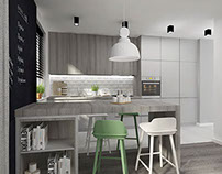 scandinavian style ~ kitchen interior