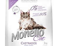 Photographs for Monello's packaging of pet food