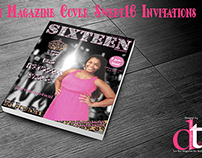 Sixteen Magazine Cover Sweet16 Invitations