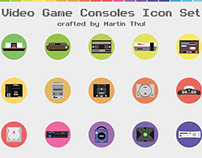 FREE Icon Set - Video Game Consoles