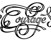 Handlettering: Courage