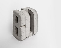 Concrete Bookend »Bold«