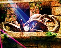 Digital Painting Mystic Octopus