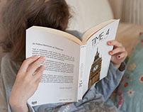 Girl Reading a Book Mockup