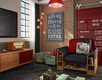 Living Room (3D)