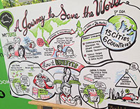 "MyTeksi - ""Journey to save the world"" illustration"