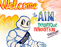 Michelin graphic facilitation event, New Delhi India