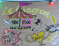 """Circus & Freak"" graphic facilitation workshop, Paris"