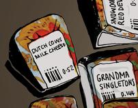 Illustration portfolio / 2012 / food
