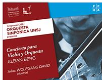 Orquesta Sinfónica de la UNSJ - Temporada 2014