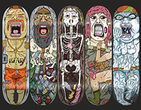'Trapped' - Skateboard Series for BZAR Group